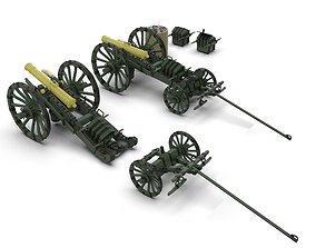 3D asset SIX LBS FRENCH GUN lowpoly