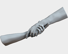Hands 3D print model anatomy