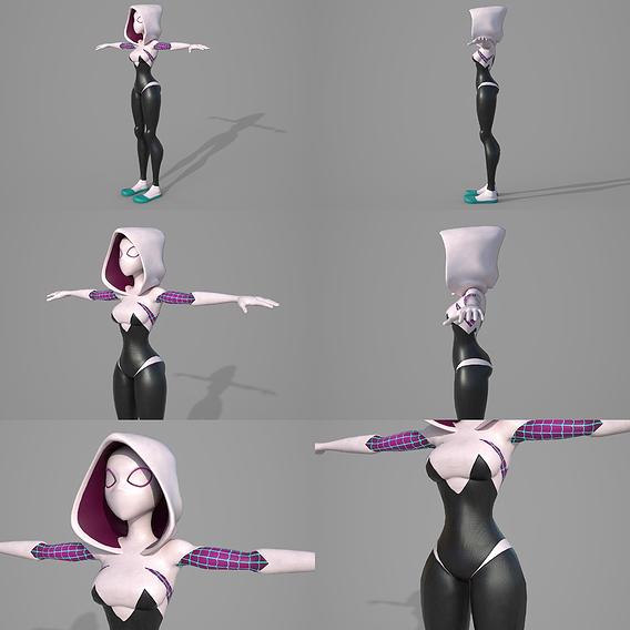 Character - Spider Gwen Rigging Fan Art