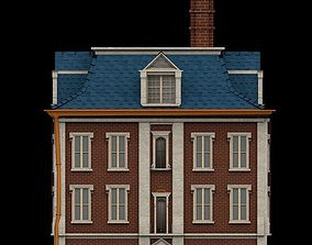 3D asset Victorian Red Brick Building