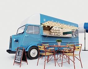 Set street cafe 3D model