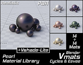 3D VMATS Pearl Material Library for Blender Cycles and