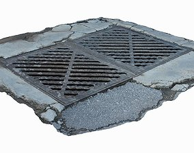 3D model low-poly Manhole Cover