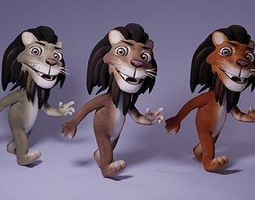 Toon Humanoid Lion 3D asset
