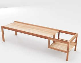 3D model Wooden Childrens Table