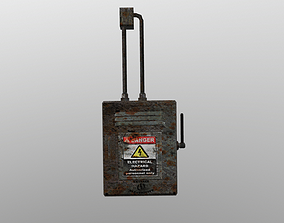 VR / AR ready Game ready Old Fuse box 3D model Low-Poly