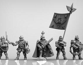 3D print model Feudal Guard Command Squad 28mm