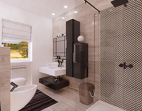 bathroom 3D asset low-poly