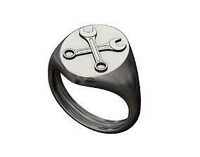 3D print model Wrench Oval signet ring