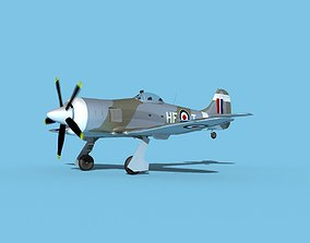 3D Hawker Tempest MKII V05 RAF