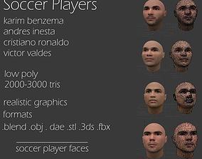 3D asset soccer players