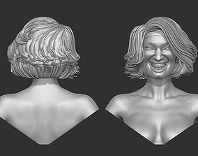 Woman Female Head 3D print 3D model