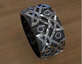Withc Wicca Ring with Celtic Viking ornaments 3D print 1