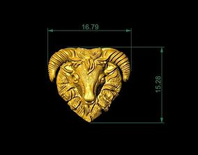 Golden Goat For Pendants And House Decor 3D print model