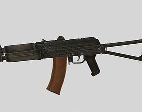 AKS-74U 3D asset low-poly