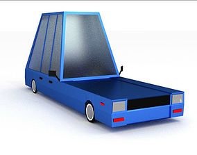 low poly car 3D asset rigged