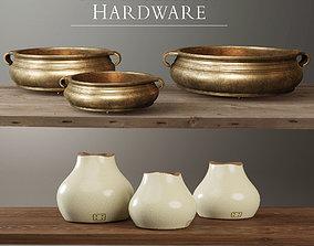 3D model Restoration Hardware decorative set