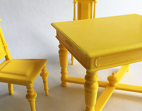 3D printable model Eclectic table and chair