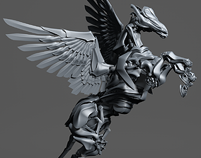 3D Iron Pegasus with 500 separated elements