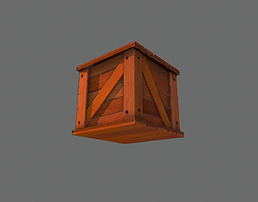 3D model Crate Wood Low Poly