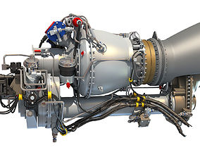 3D Turboshaft Helicopter Engine