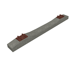 3D model Reinforced Concrete Railway Sleepers