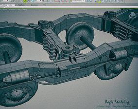 Train Bogie 3D model low-poly