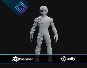 3D model rigged Stylized Male Base Mesh