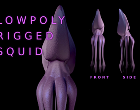 3D asset Low Poly Giant Squid