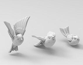 birds tit bullfinch Sparrow nightingale 3D printable model