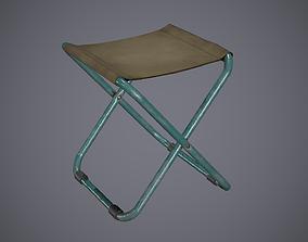 Chair Folding 3D asset
