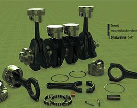 3D Pistons crankshaft