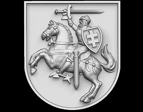 Lithuania coat of arms for CNC 3D print model