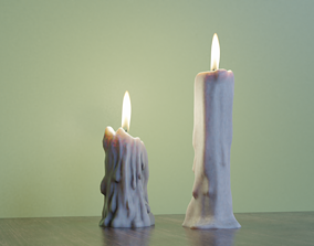 3D model Candles Lowpoly