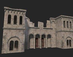3D asset realtime Medieval ruin