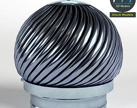 Rotating chimney cap 3D model PBR