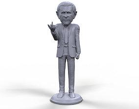 George Bush stylized high quality 3D printable miniature