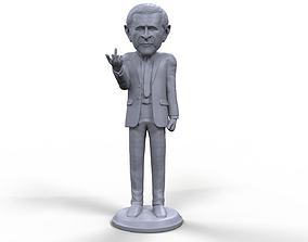 George Bush stylized high quality 3D printable miniature