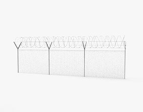 3D Barbed Wire Fence