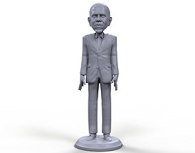 Barack Obama stylized high quality 3d printable miniature