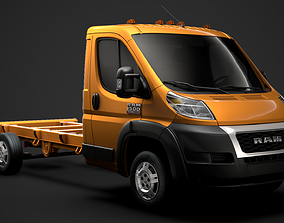 3D model Ram Promaster Chassis Truck Single Cab 3800 WB