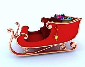 saint Santa sleigh 3d model