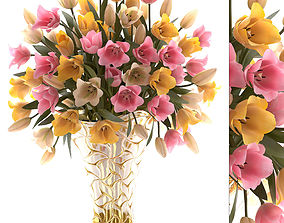 3D model Bouquet of tulips
