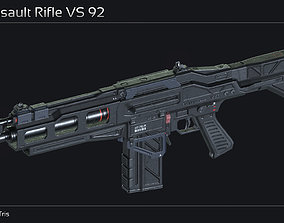 Scifi Assault Rifle VS 92 3D model
