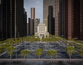 3D asset CITY SCENE SET SKYSCRAPER