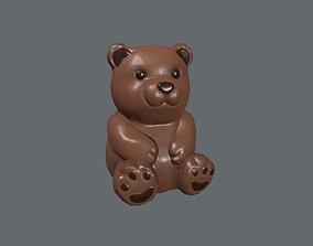 Chocolate Bear 3D asset
