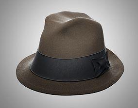 3D Hat of the gangster model