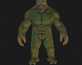 Monster 3D model animated game-ready