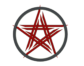 3D print model underworld pentagram