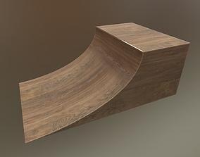 3D asset Skateboarding skatepark skate HalfPipe PBR Wooden